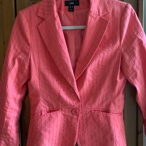 H & M orange short fitted blazer jacket,